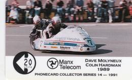 Isle Of Man, MAN 039, 2 £,Tt Racers 1991, Molyneaux/Hardmann, Mint, 2 Scans. - Isla De Man