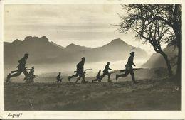 "AK 2. Weltkrieg Infanterie ""Angriff"" 1943 Feldpost #29 - Guerre 1939-45"
