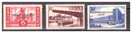 SAAR/SARRE - 1955 - REFERENDUM POPOLARE PER LA SARRE. SERIE COMPLETA, CON DIFETTI. -  MNH** - 1947-56 Occupazione Alleata