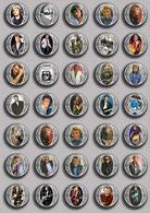 Johnny Hallyday Music Fan ART BADGE BUTTON PIN SET 16 (1inch/25mm Diameter) 35 DIFF - Music