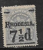 B.S.A.Co. /S. Rhodesia 7 1/2d Surcharge On 2'6, MH * - Rhodésie Du Sud (...-1964)