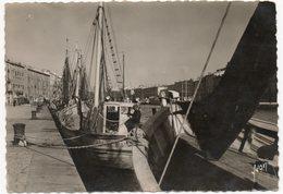 CP 34  - Sète (Cette) Bateaux De Pêche à Quai -  Ayant Circulé En 1951 (réf 18-946) - Sete (Cette)