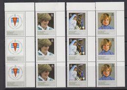 Falkland Islands Dependencies 1982 Princess Diana 4v Strip Of 3 ** Mnh (41256B) - Zuid-Georgia