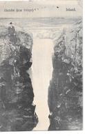 Iceland - Glerarfos (near Oddeyri), Man Near Waterfall - About 1906 - Iceland