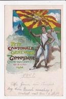 CPA SUISSE Fete Cantonale Genevoise De Gymnastique Chene Bougeries 1902 - GE Genf