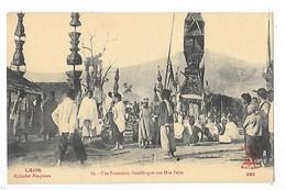 LAOS -   Une Procession Bouddhique Aux Hua-Pahn  ## RARE ##   -   L 1 - Laos