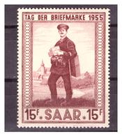 SAAR/SARRE - 1955 - GIORNATA DEL FRANCOBOLLO. -  MH* - 1947-56 Occupazione Alleata