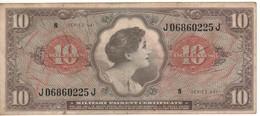 USA  MPC  10 Dollars  Serie 641  PM63  (ND 1965) - Certificati Di Pagamenti Militari (1946-1973)