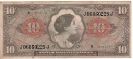 USA  MPC  10 Dollars  Serie 641  PM63  (ND 1965) - Certificados De Pagos Militares (1946-1973)