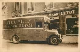 18 - BOURGES - Place Henri Mirpied - Rare Carte Publicitaire Des Meubles Jean Marie Guyot - Camion Gros Plan (TOP) - Bourges