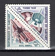 DAHOMEY  TAXE N° 45 + 46  NEUF SANS CHARNIERE  COTE  2.80€  ESPACE AVION - Bénin – Dahomey (1960-...)