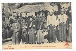 LAOS -   Le Phya-Pouma, Chef Kha-Kouène Et Sa Famille (Haut-Mékong)   ## TRES RARE ##   -   L 1 - Laos