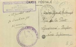 """Beau Et Rare Cachet Du Service De Prothese Faciale (pour """"gueules Cassées"""") De L'Hotel Dieu à Marseille En 1918 Medecine - War 1914-18"""