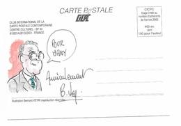Illustrateur Bernard Veyri Caricature Et Dedicace Lionel Jospin Jacques Chirac Politique - Veyri, Bernard