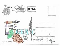 Illustrateur Bernard Veyri Caricature Et Dedicace Figeac Grand Cru Europeen De La Collection 2002 - Veyri, Bernard