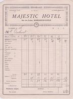 MAJESTIC HOTEL  RUE DES ECOLES  MARRAKECH-GUÉLIZ - Factures & Documents Commerciaux