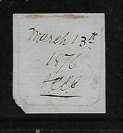 S.Africa, Natal, Embossed Revenue Stamp, 1851, 3/= On Blue Paper M/s Cancel March 13th 1876 - Afrique Du Sud (...-1961)
