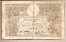 Francia - Banconota Circolata Da 100 Franchi P-86b - 1938 - 1871-1952 Antichi Franchi Circolanti Nel XX Secolo
