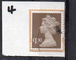 GB 2009-date £1 SECURITY MACHIN Used Code M16L MAIL - 1952-.... (Elizabeth II)
