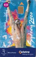 Australia, 00010004N , Olympic Swimmer Sydney 2000, 2 Scans. - Australia