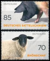 BRD MiNr. 3261-3262 Satz ** Alte & Gefährdete Nutztierrassen, Aus Bl.81, Postfr. - Neufs