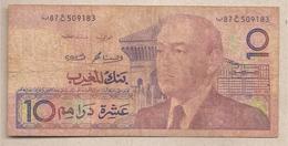 Marocco - Banconota Circolata Da 10 Dirhams - P-63b - 1987 - Maroc