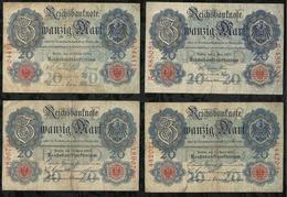 LOT DE 7 BILLETS DE 20 MARK . - [ 2] 1871-1918 : Empire Allemand