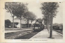 SATONAY-CAMP 69 RHONE AVANT 01 AIN LA GARE VUE INTÉRIEURE TRAIN EN GROS PLAN EDIT. VARIN - Andere Gemeenten