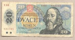 Cecoslovacchia - Banconota Circolata Da 20 Corone P-95 - 1988 - Tchécoslovaquie