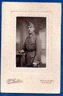 Photo Grand Format  --  Soldat Français  -- Atelier P Cartier  -  Vincennes - Krieg, Militär