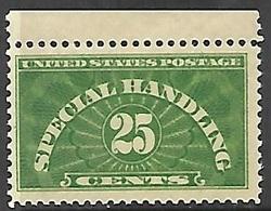 US QE4 1925    Sc#QE4   25c  Green Special Handling MNH  2016 Scott Value $37.50 - Parcel Post & Special Handling