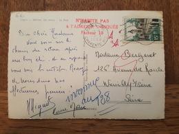 1958 - Cachet N'Habite Pas à L'Adresse Indiqué, Facteur 15 - TAD Royan Principale Pour Neuilly Sur Seine TP N°1105 - Marcophilie (Lettres)