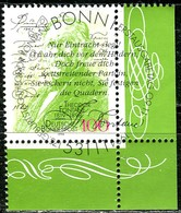 A12-38-1) BRD - Mi 1767 ECKE REU - Zentrisch OO Gestempelt (B) - 100Pf                     Theodor Fontane - Usados