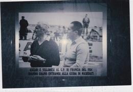 ASCARI E VILLORESI AL G.P. DI FRANCIA DEL 1954  FOTO ORIGINALE    AUTENTICA 100% - Fotografia