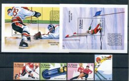 A22498)Olympia 98: St. Vincent 4243 - 4246** + Bl 442** + 443** - Winter 1998: Nagano
