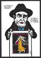 CPM Semeuse Timbre Poste Philatélie Jihel Tirage Signé Numéroté En 14 Exemplaires Mitterrand - Stamps (pictures)
