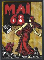 CPM Semeuse Timbre Poste Philatélie Jihel Tirage Signé Numéroté En 30 Exemplaires Mai 68 - Stamps (pictures)