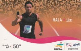 Qatar, HA-VO-?, Hala (Qtel) - Mobile Refill, Runner, 2 Scans. - Qatar