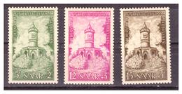 SAAR/SARRE - 1956 - PRO RICOSTRUZIONE MONUMENTI DELLA SAAR. SERIE COMPLETA -  MNH** - 1947-56 Occupazione Alleata