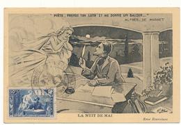 Carte Maximum - Pour Les Chomeurs Intellectuels, La Nuit De Mai, Alfred De Musset - Cartoline Maximum
