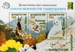 Kazakhstan - 2018 - Almaty Natural Reserve - Mint Souvenir Sheet With Varnish - Kazachstan