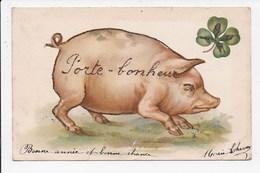 CPA FANTAISIE Porte Bonheur Cochon - Fantaisies