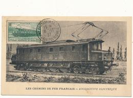 Carte Maximum - Les Chemins De Fer Français - Locomotive Electrique - Maximum Cards
