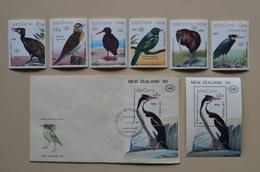 Laos Neq Zealand 90 FDC + S/S + 6 MNH Birds Oiseaux Phalacrocorax Oiseau - Gallinaceans & Pheasants