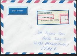 REPUBBLICA CECA - BUSTA VIA AEREA DA CHRUDIM 23.12.1994 - AFFRANCATURA MECCANICA - Repubblica Ceca