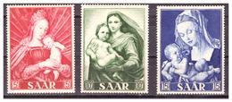 SAAR/SARRE - 1954 - ANNO MARIANO. MADONNA CON BAMBINO. AUTORI DIVERSI. SERIE COMPLETA -  MNH** - 1947-56 Occupazione Alleata
