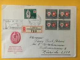 8022 - Lettre Recommandée Cachet Zürcher Knabenschiesser 1957 09.09.1957 - Schweiz