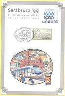 GERMANIA - GERMANY - Deutschland - ALLEMAGNE - 1999 - 30 Saarbrücken + Special Cancel Saarbrücken 1000- Jahrfeier - Sara - Storia Postale