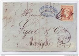 016. LAC N°16 - Du Puy En Velay (HAUTE LOIRE) à Marvejols - 1860 - Postmark Collection (Covers)