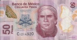MEXIQUE 50 PESOS 2014 VG+ P 123A E - Mexico
